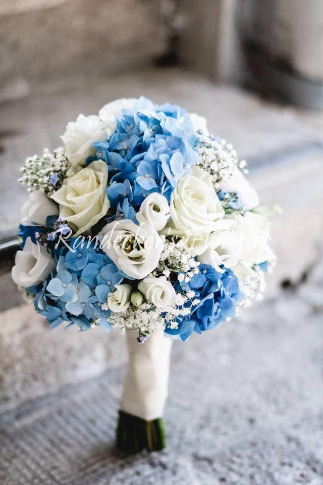Brautstrauß Mit Hortensien  zarter Brautstrauß mit blauen Hortensien