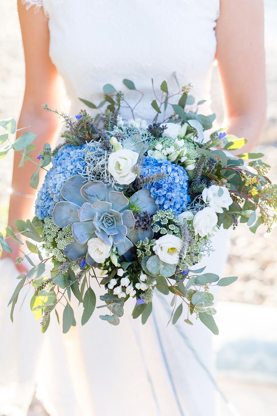 Brautstrauß Mit Hortensien  Ideen für einen Brautstrauss in Blau