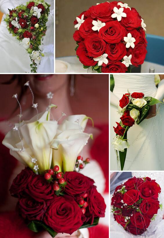 Brautstrauß Rot  Brautstrauß in Rot Weiß eine super romantische und