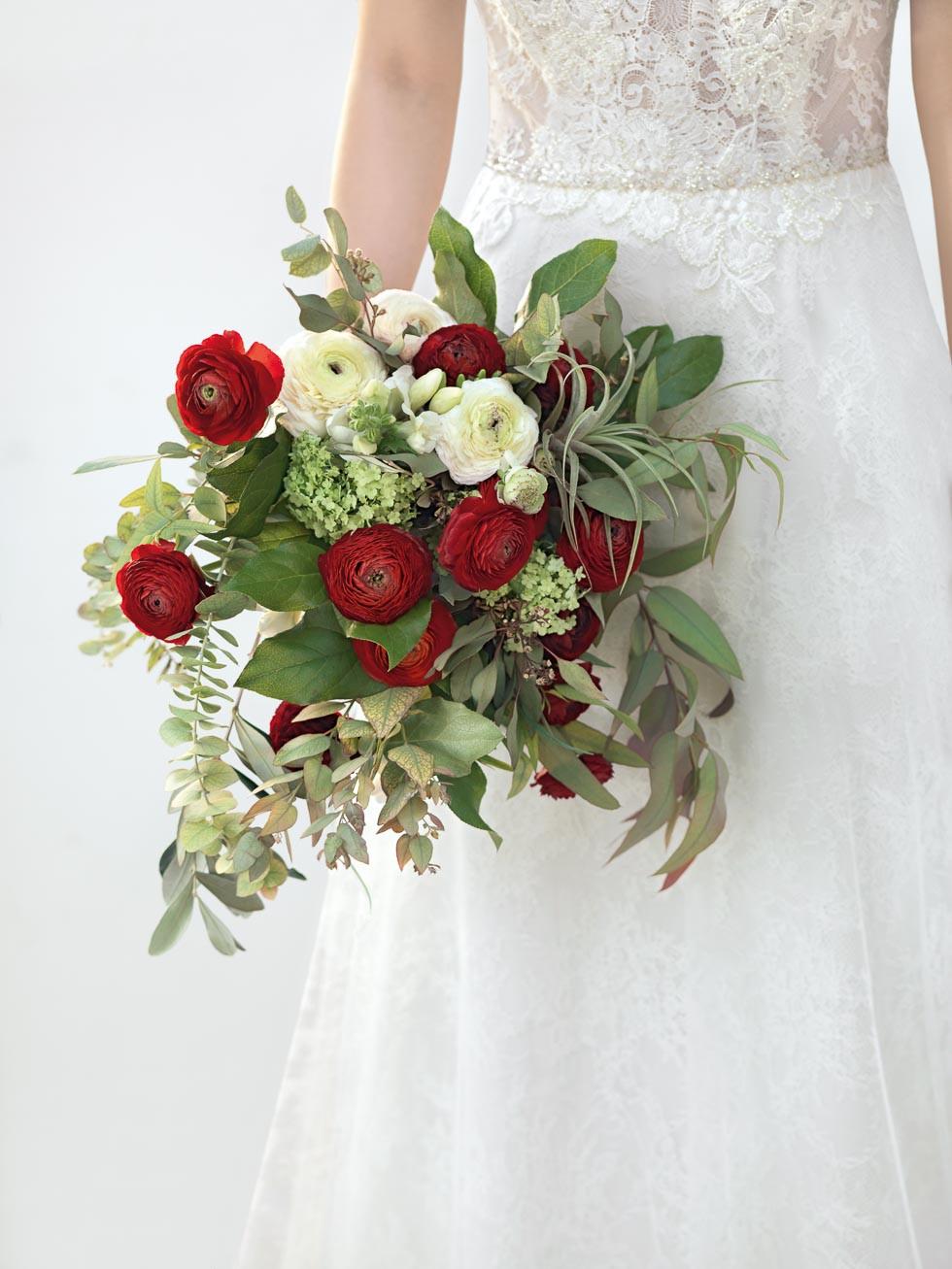 Brautstrauß Rot  Brautstrauss Weiss Rot