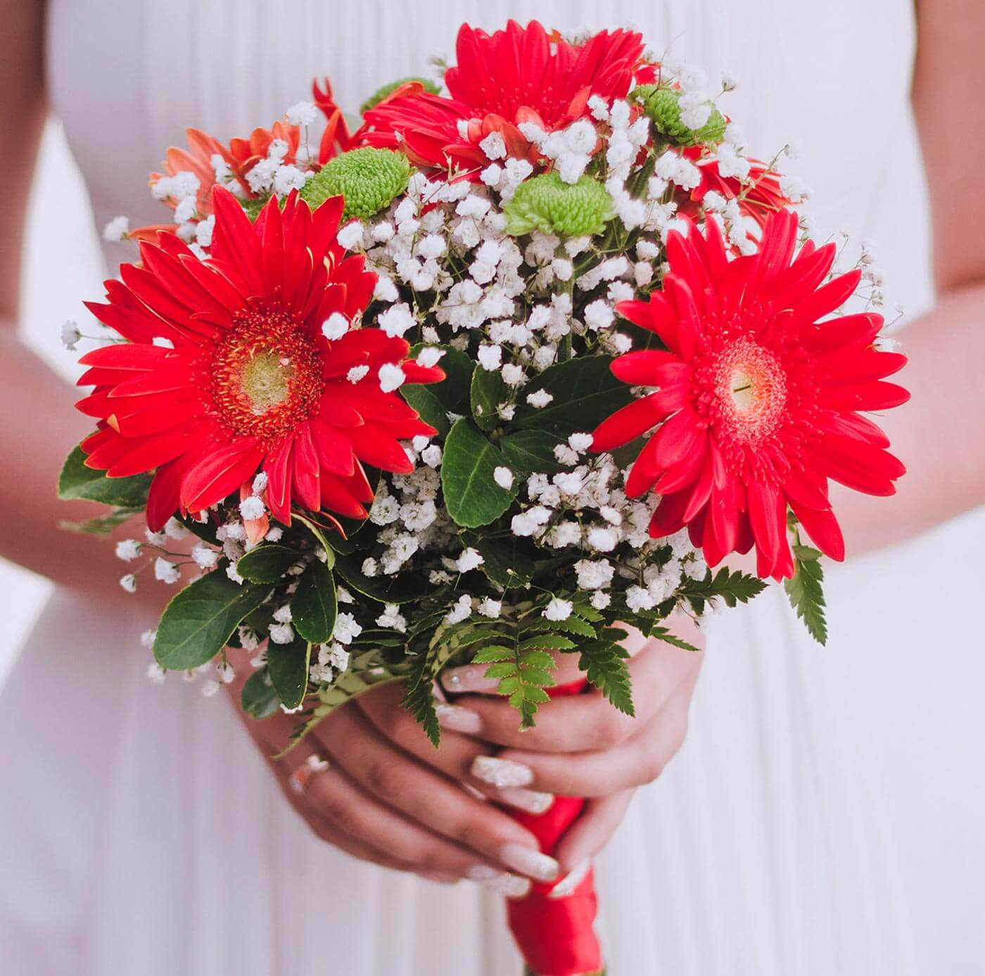Brautstrauß Rot  Brautstrauß Gerbera Rot