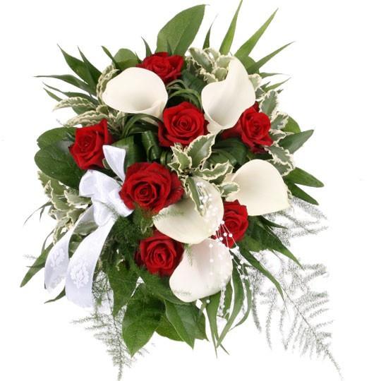 Brautstrauß Rote Rosen  Brautstrauß My Melody Rosen Calla– Brautstrauß online