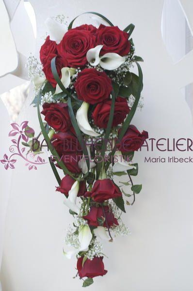 Brautstrauß Rote Rosen  Brautstrauss rot weiss Google Suche