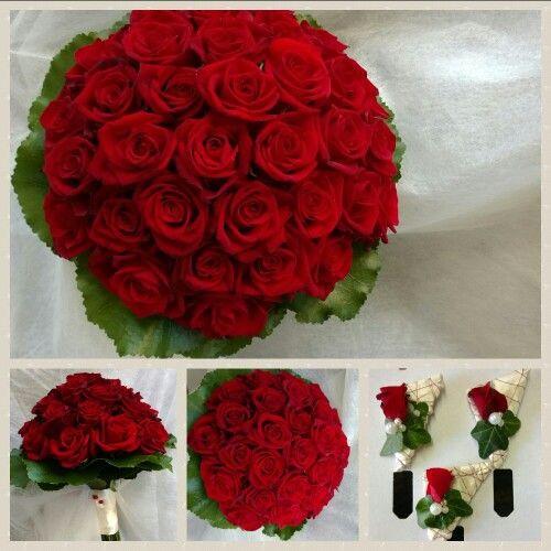 Brautstrauß Rote Rosen  Rote Rosen Brautstrauß Brautstrauß Pinterest