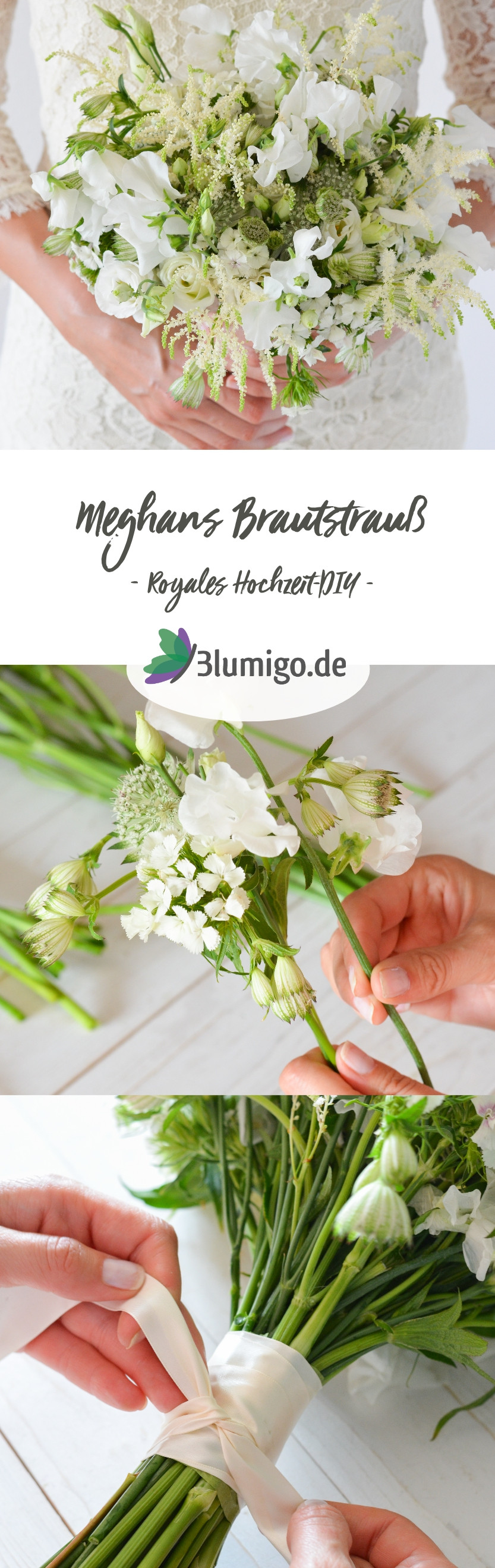 Brautstrauß Selber Binden  Meghans Brautstrauß selber binden – Royales Hochzeits DIY