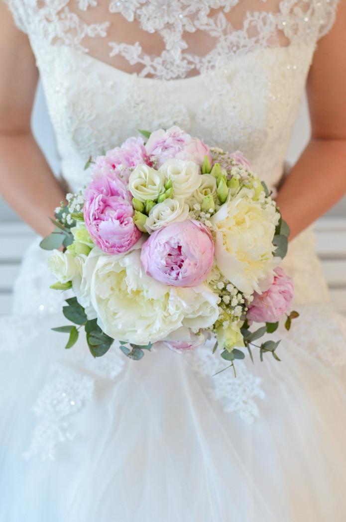 Brautstrauß Selber Binden  Brautstrauß mit Pfingstrosen selber binden – Rosa Hochzeit