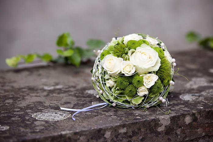 Brautstrauß Weiß  Brautstrauß Weiß Grün