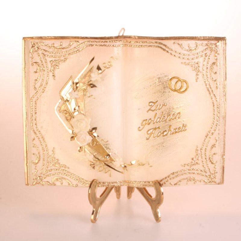 Buch Zur Hochzeit  Buch groß zur goldenen Hochzeit Kerzen zum Bestpreis bei