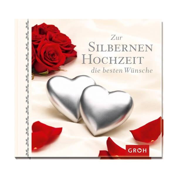 """Buch Zur Hochzeit  Silberhochzeit Geschenkbuch """"Zur silbernen Hochzeit"""