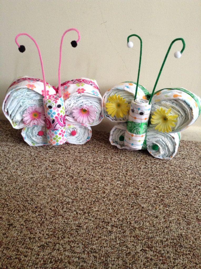 Butterfly Geschenke  Butterfly Diaper Cakes Geschenk