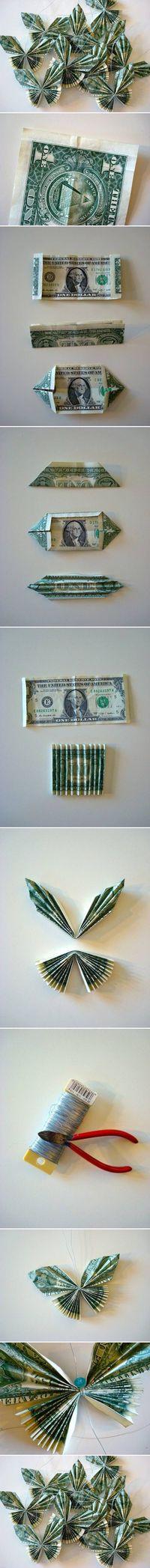 Butterfly Geschenke  DIY Money Bill Butterfly DIY Projects