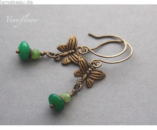 Butterfly Geschenke  Weihnachten Geschenke Butterfly Jade Vintage Ohrringe