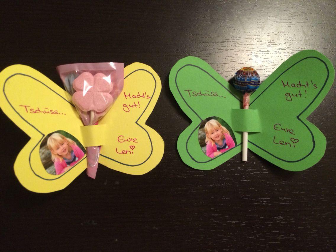 Butterfly Geschenke  DIY Abschiedsgeschenk Kita Krippe Kiga Kindergarten