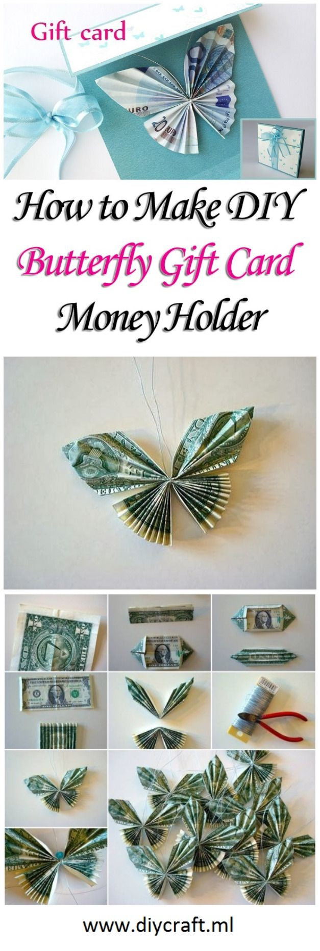 Butterfly Geschenke  Geldgeschenk verpacken Schmetterling falten