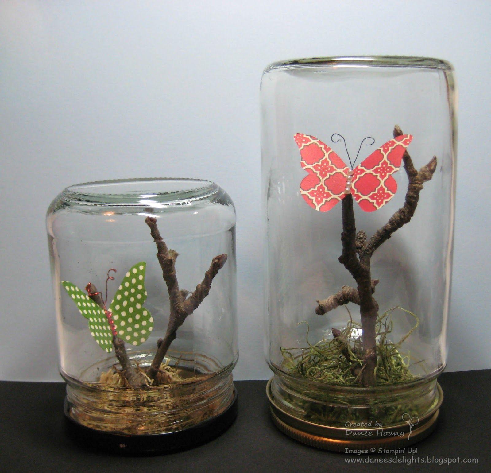 Butterfly Geschenke  Schmetterlinge im Glas Basteln mit Kindern