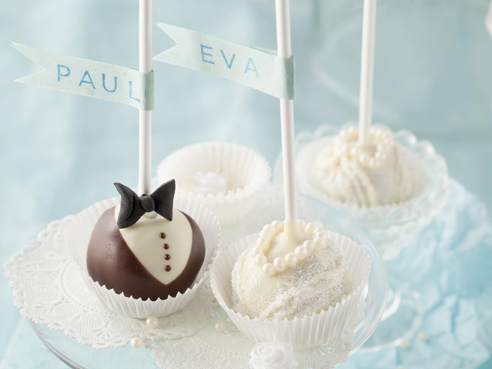 Cake Pop Hochzeit  Hochzeits Pops