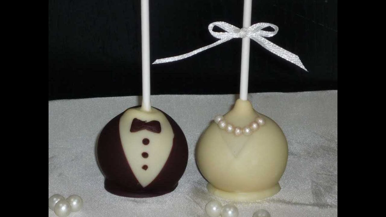 Cake Pop Hochzeit  Braut & Bräutigam Cake Pops Bride & Groom Cake Pops