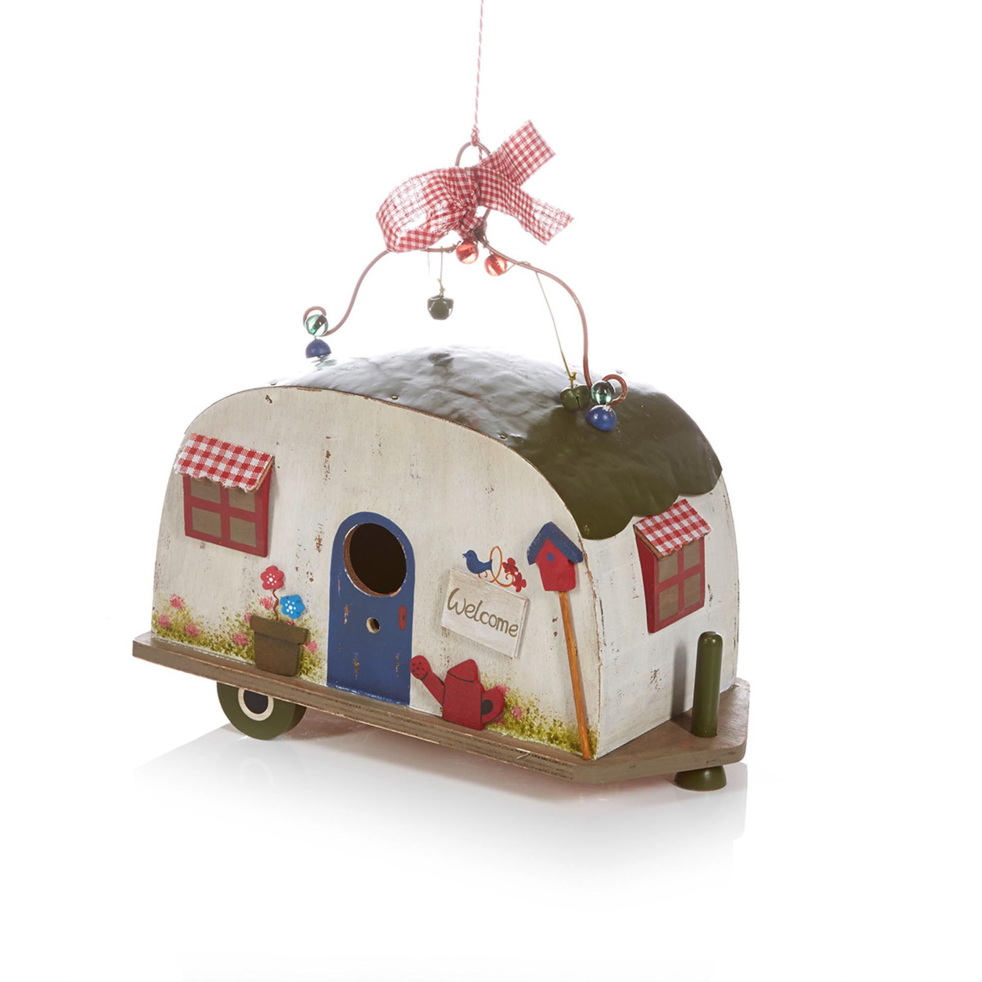 Camping Geschenke  Vogelhaus im Retro Wohnwagen Stil mega coole geschenke
