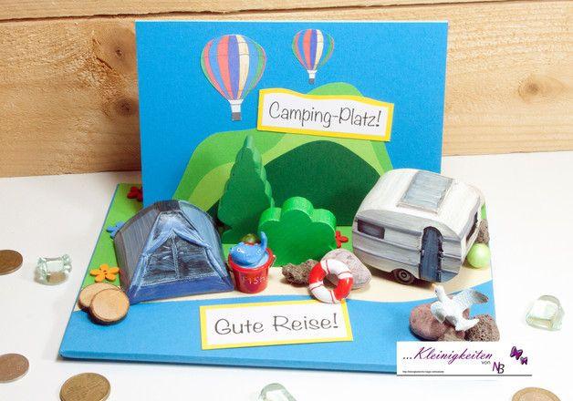 Camping Geschenke  Geldgeschenk Camping Urlaub Zelt Wohnwagen Gutscheine