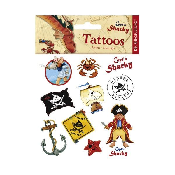 Capt N Sharky Ausmalbilder  Capt n Sharky Tattoos verschiedene Piratenmotive