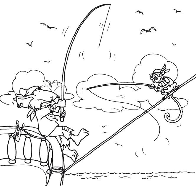 Capt N Sharky Ausmalbilder  Ausmalbilder Piratenstarke Fanpage