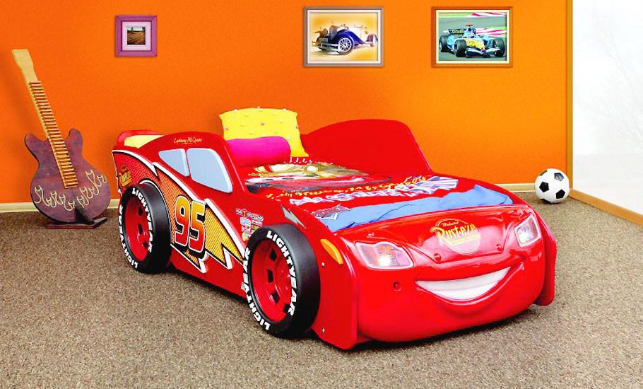 Cars Bett  Kinderbett Disney Cars Lightning McQueen Autobett Bett