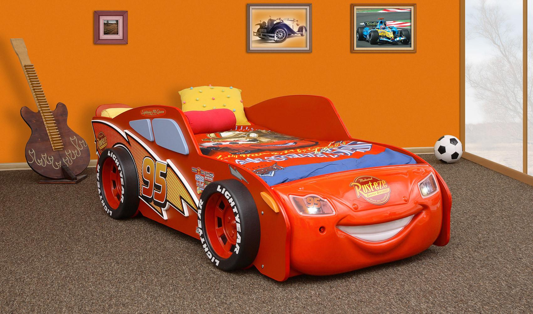 Cars Bett  Autobett Lightning McQueen Kinderbett Schlafen