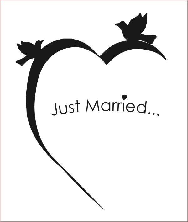 Clipart Hochzeit Schwarz Weiß  clipart hochzeit schwarz weiß OurClipart