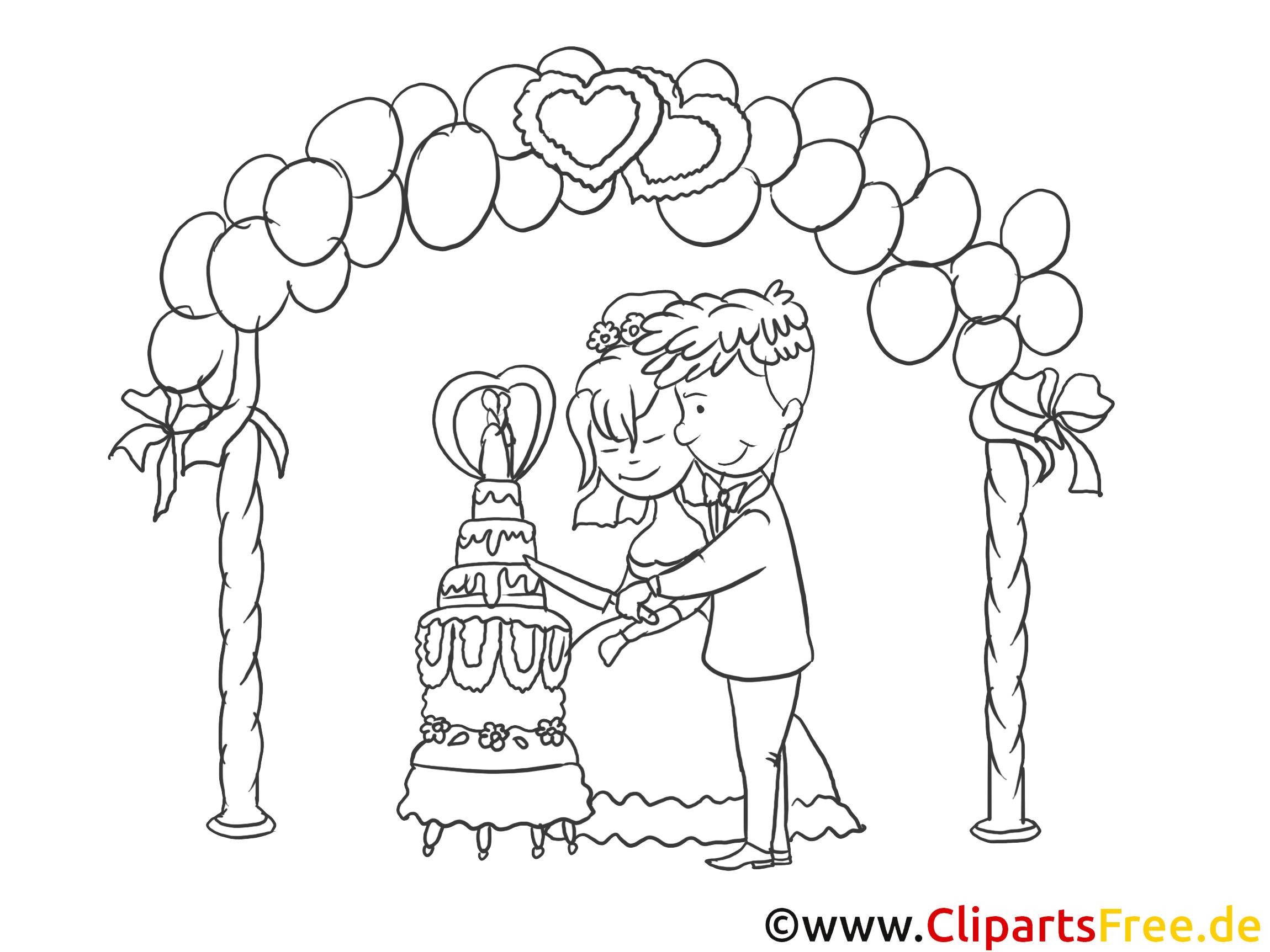 Clipart Hochzeit Schwarz Weiß  Kirchliche Trauung Clipart Zeichnung Bild schwarz weiss