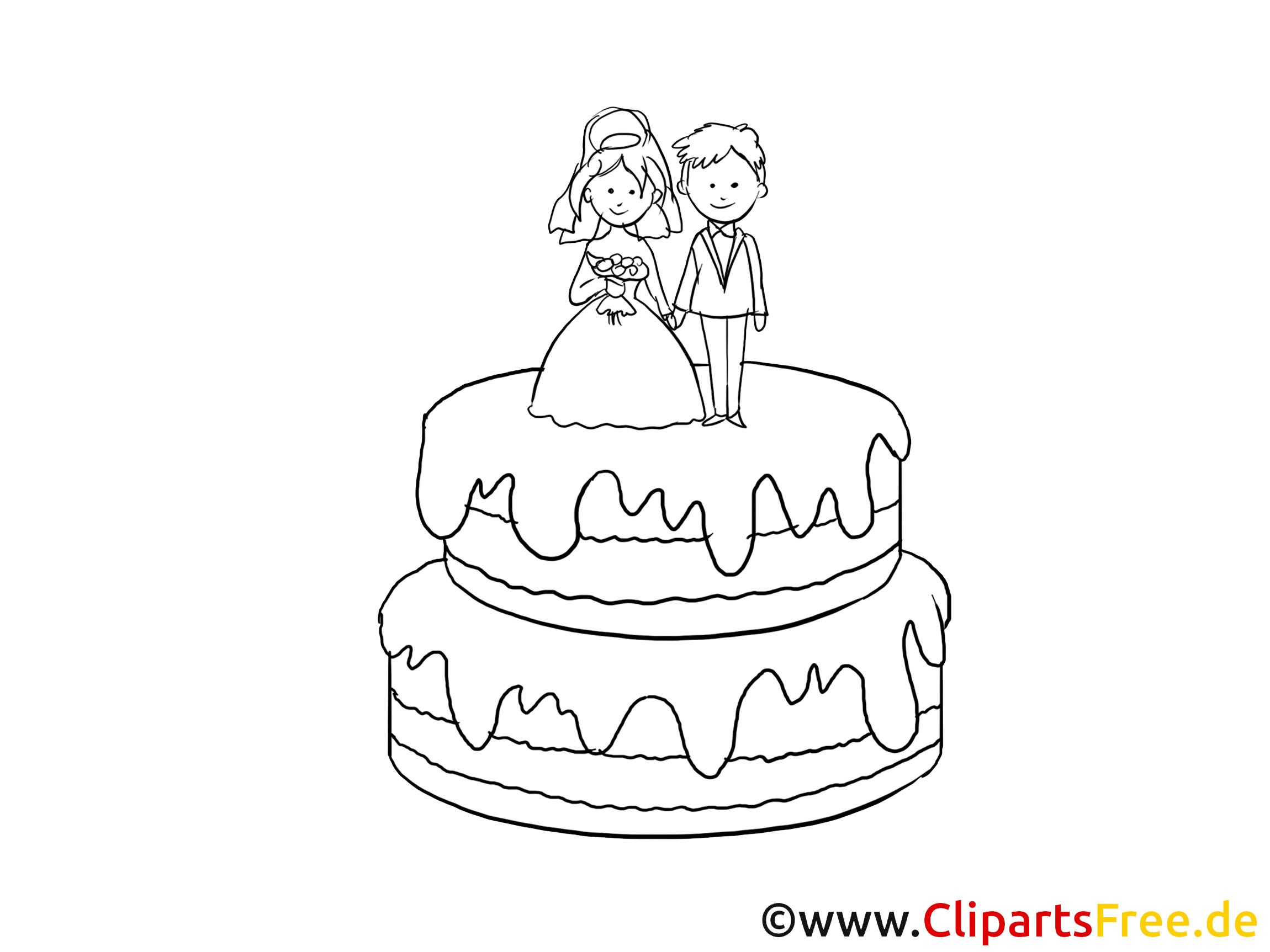 Clipart Hochzeit Schwarz Weiß  Torte Clipart Schwarz Weiss gratis