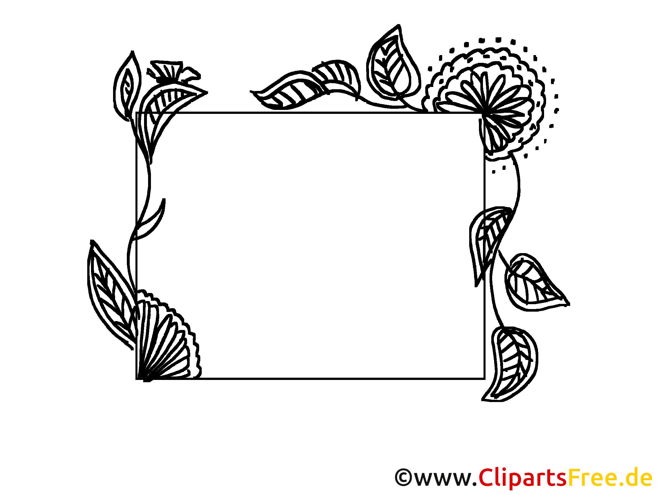 Clipart Hochzeit Schwarz Weiß  Rahmen hochzeit clipart schwarz weiß 8 Clipart Station
