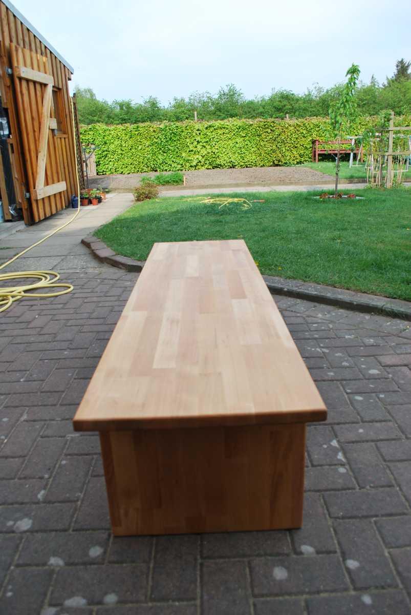 """Clou Arbeitsplattenöl  Holz und mehr Ältere Projekte """"Die Blumenbank"""""""