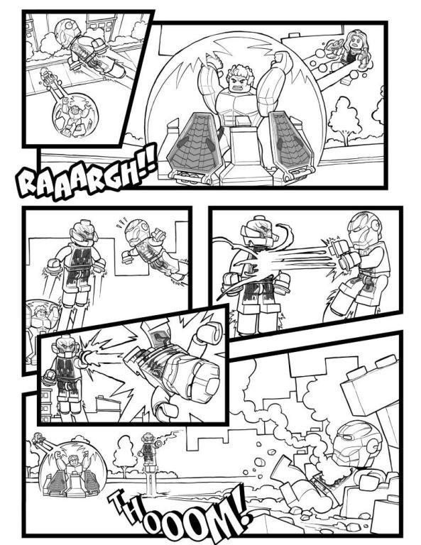 Comic Ausmalbilder  Kids n fun