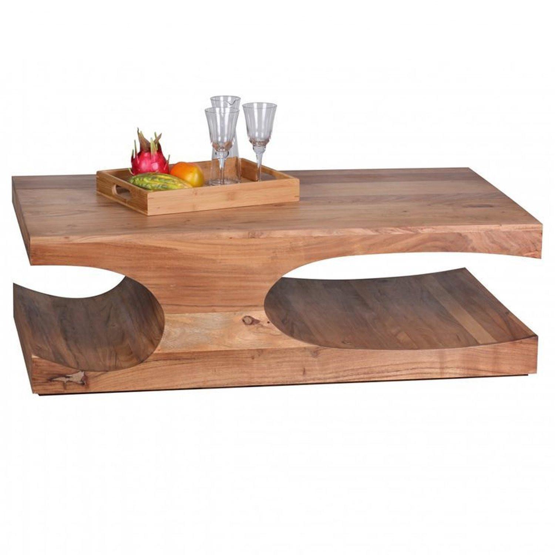 Couchtisch Akazie  Couchtisch Massiv Holz Akazie 118 cm breit Wohnzimmer T