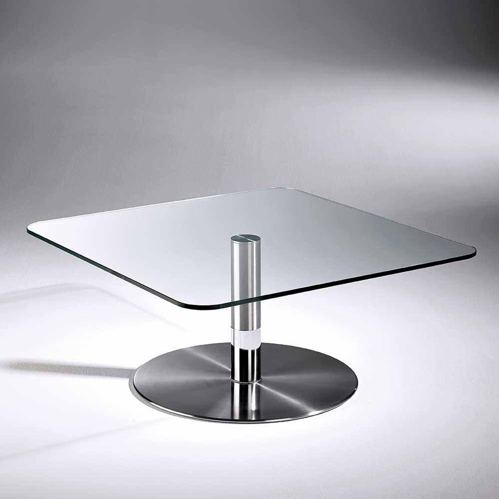 Couchtisch Glas Edelstahl  Glas Couchtisch Arne quadratisch Edelstahl