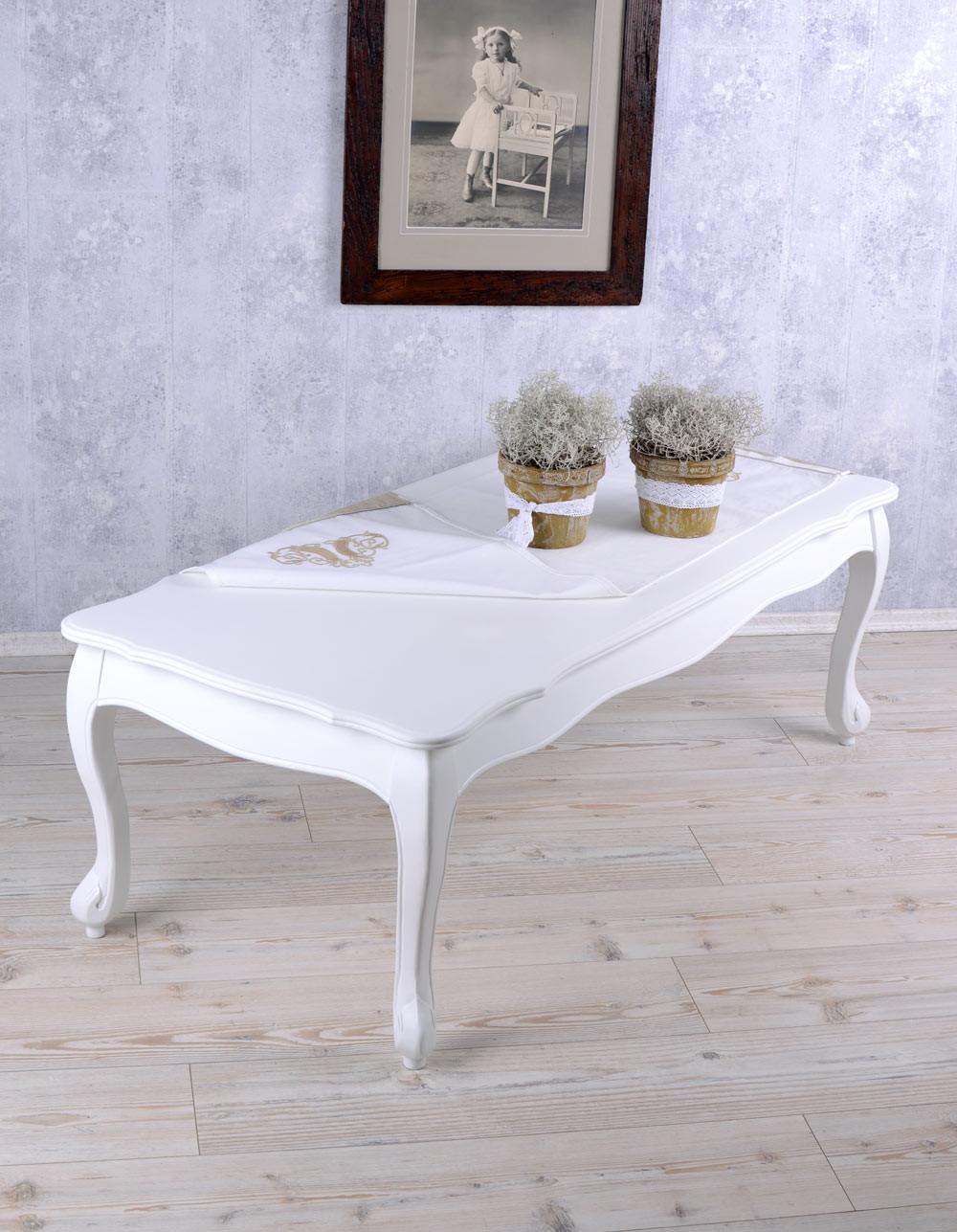 Couchtisch Shabby  Wohnzimmertisch Weiss Tisch Landhausstil Couchtisch Shabby