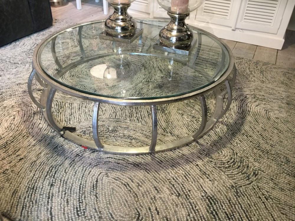 Couchtisch Silber  Couchtisch Silber Glas Metall Tisch Metall und Glas