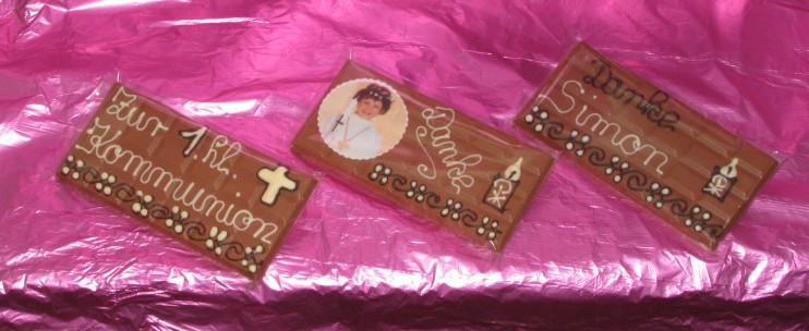 Dankeschön Geschenke Kommunion  Schokoladengeschenke Kommunion