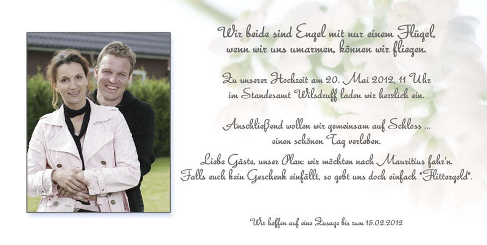Dankeskarte Hochzeit Text  dankeskarten hochzeit dankeskarte hochzeit text