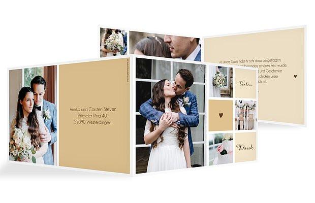 Dankeskarte Hochzeit Text  Danksagungskarten zur Hochzeit Dankeskarten in 1 2 Tagen