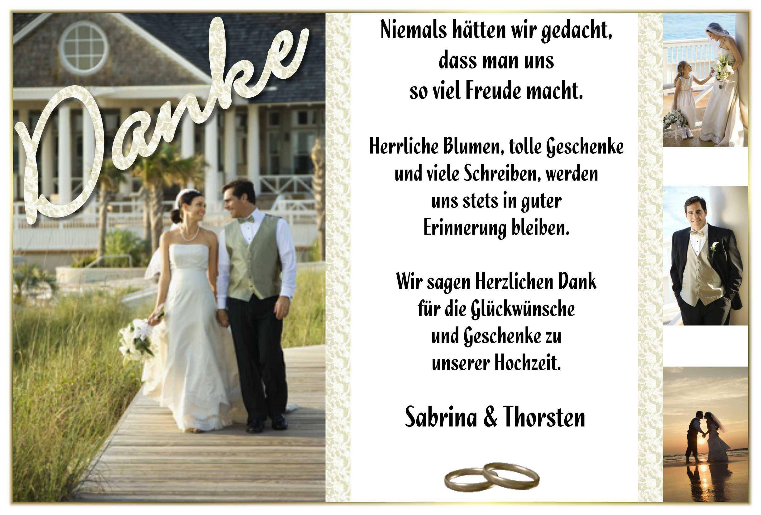 Dankeskarte Hochzeit Text  Dankeskarten Hochzeit Text Hochzeit Danksagung Text