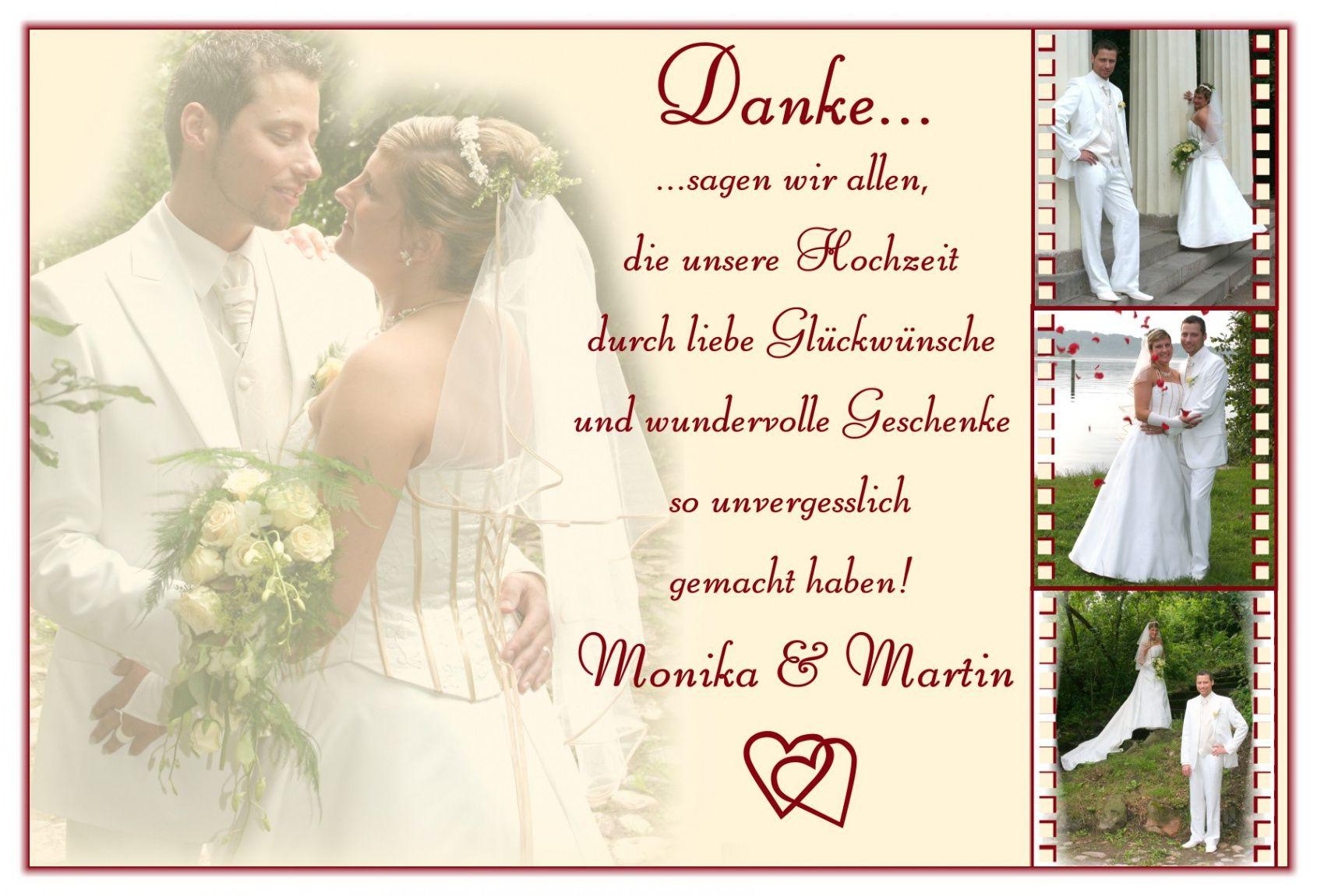 Dankeskarte Hochzeit Text  dankeskarten hochzeit dankeskarte hochzeit Danksagung