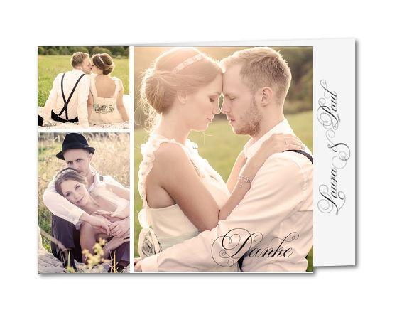 Dankeskarte Hochzeit Text  Hochzeit Dankeskarten Was muss man bei der Danksagung