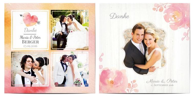 Dankeskarte Hochzeit Text  Danksagung Hochzeit Texte & Ideen für Dankeskarten