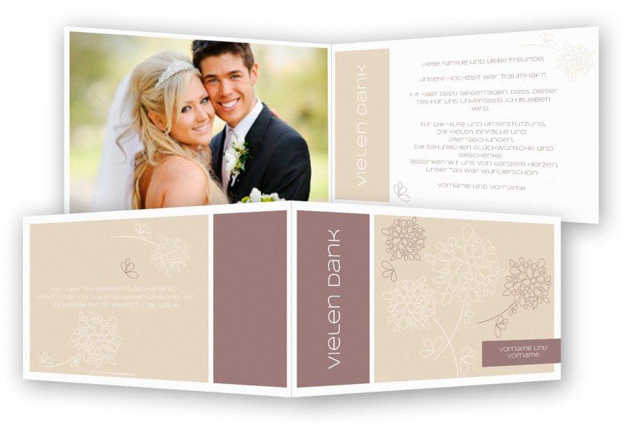 Dankeskarte Hochzeit Text  Dankeskarten Hochzeit