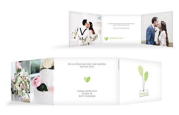 "Dankeskarte Hochzeit Text  Dankeskarte Hochzeit ""Fingerprint"""