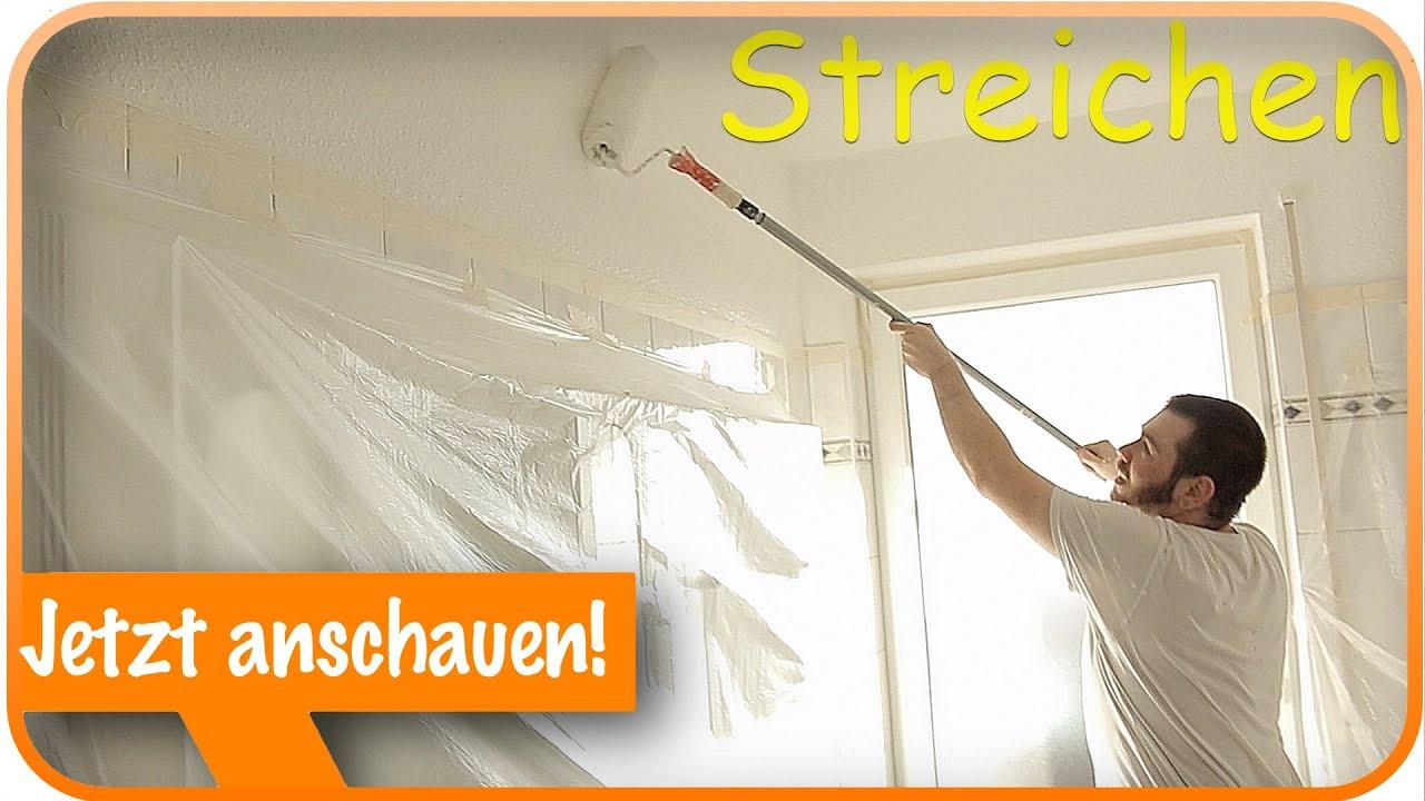 Decke Streichen  Decke und Wände streichen I Streichen Tipps & Tricks