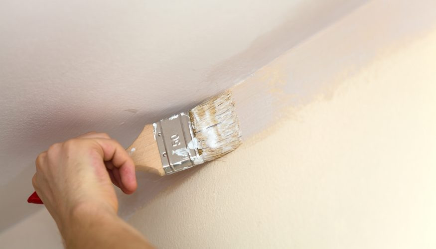 Decke Streichen  Decke streichen Schritt für Schritt Anleitung