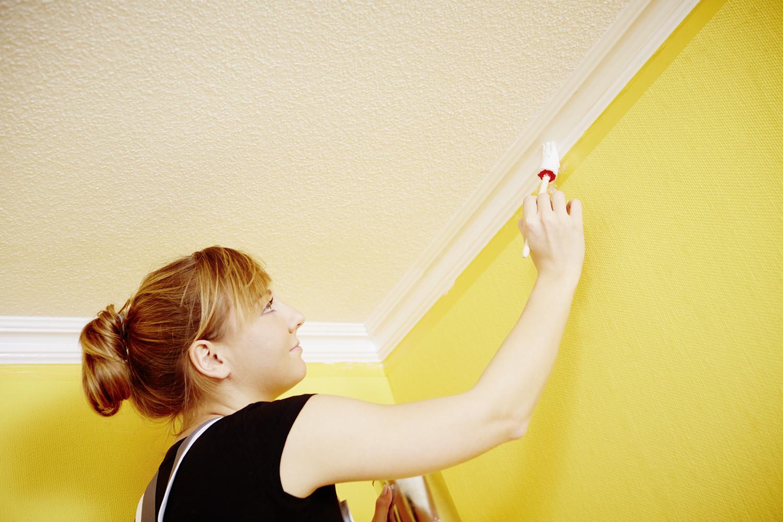 Decke Streichen  Decke Streichen Planen Von Decke Streichen Tipps Lspe