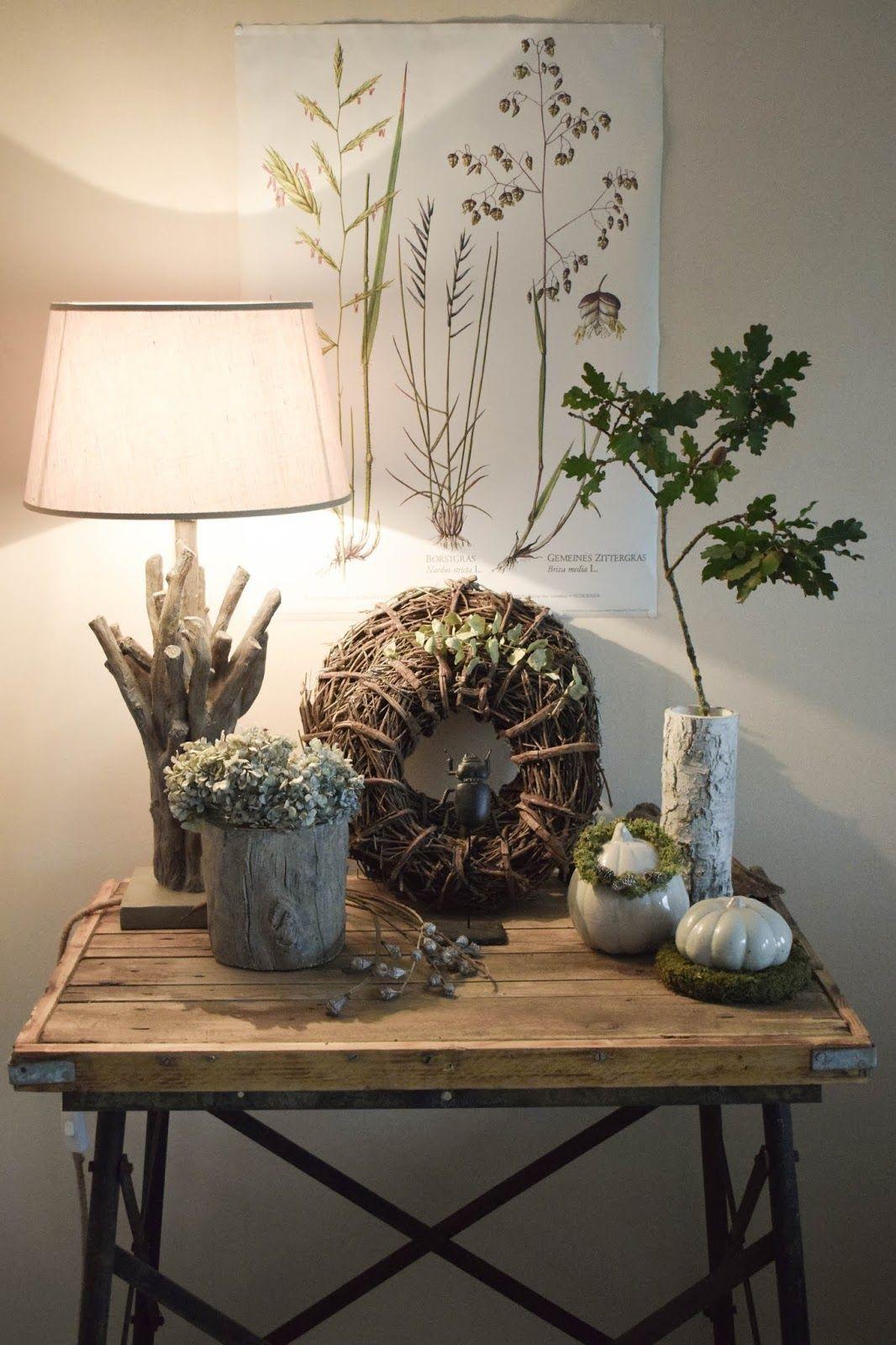Deko Für Wohnzimmer  Deko Herbst für Konsole und Sideboard mit Eicheln